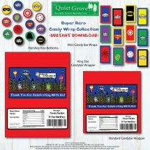 Etsy Images template super Hero candy wrap collection new