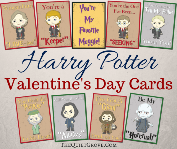 Free Printable Harry Potter Valentine Cards ⋆ The Quiet Grove