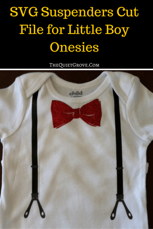SVG Suspenders Cut File for Little Boy Onesies