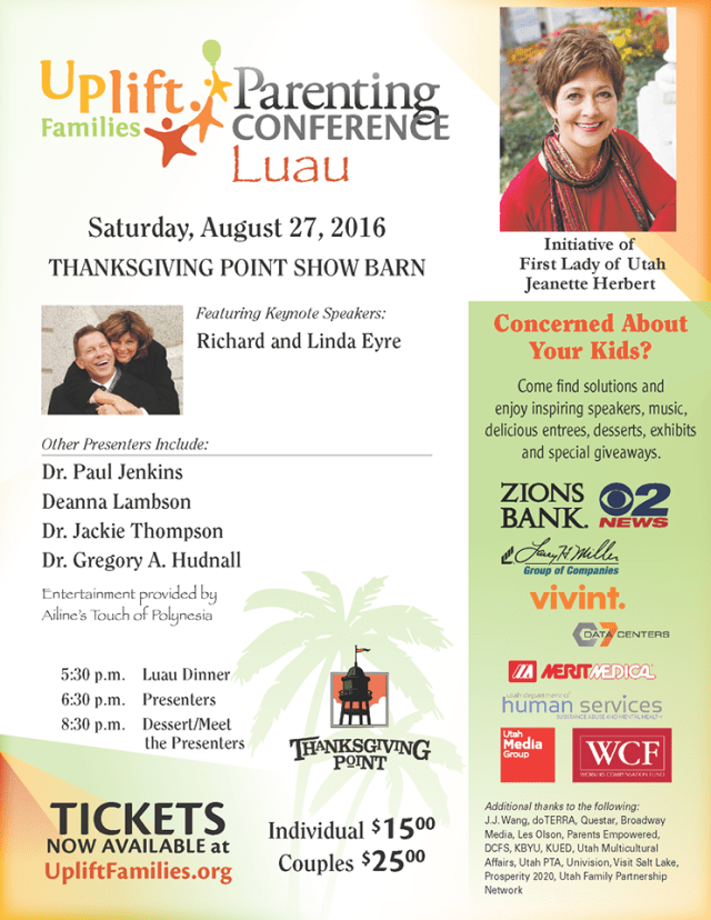Uplift Families Parenting Conference 2016 + Discount Code