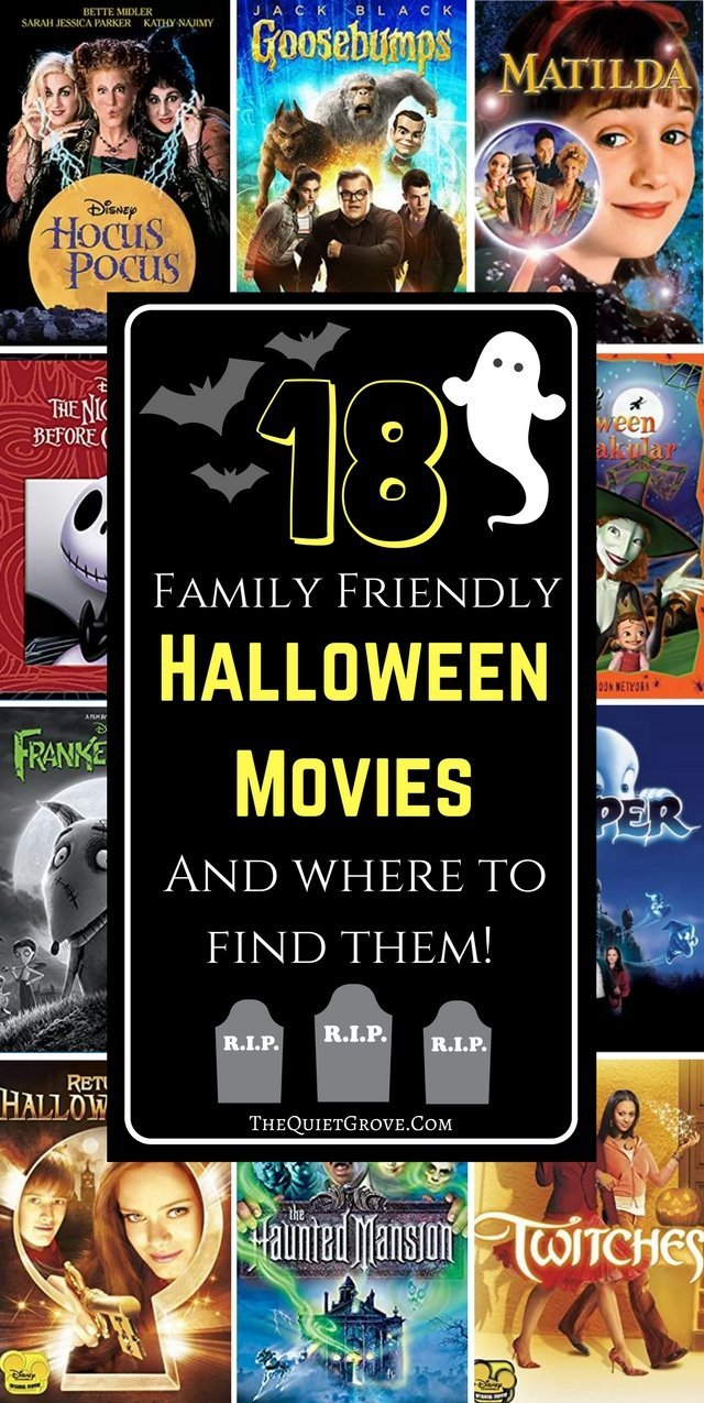 18 Family Friendly Halloween Movies and Where to Find Them
