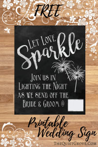 Download 4 Free Wedding Printables ⋆ The Quiet Grove