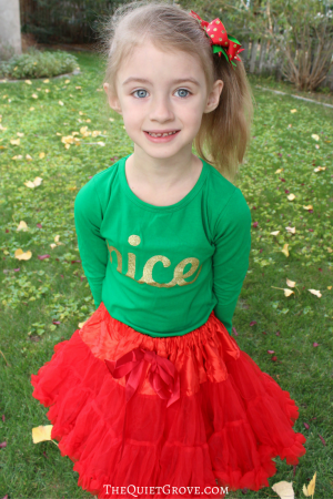 Little Girls Christmas Styling with The Hair Bow Company