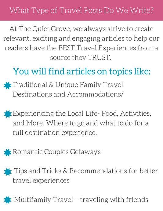 The Quiet Grove Family Travel Media Kit ⋆ The Quiet Grove