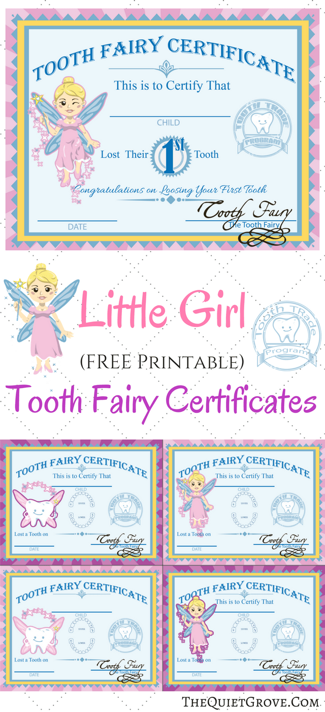 Clever image throughout printable tooth fairy certificates