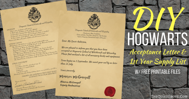 download hogwarts acceptance letter supply list zip file