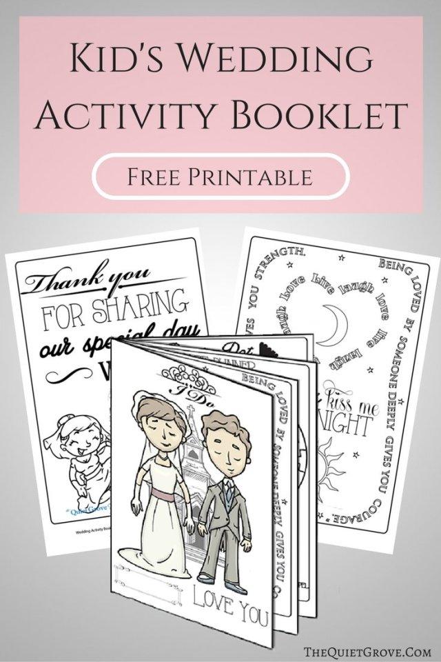Free Printable Kid's Wedding Activity Booklet! ⋆ The Quiet ...