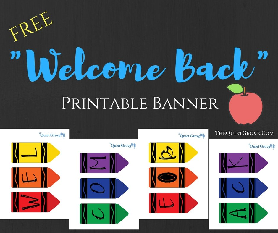 photo relating to Welcome Home Banner Printable named Printable Welcome Household Banner @OO93 Advancedmagebysara
