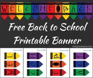 It's just a picture of Soft Welcome Back Banner Printable