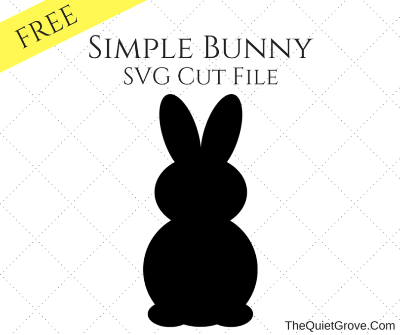 Download Simple Bunny Silhouette SVG Cut File ⋆ The Quiet Grove