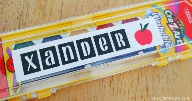 Easy DIY Back to School Labels Made with a Cricut ⋆ The Quiet Grove