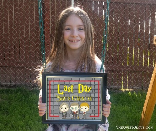 Free Harry Potter Last Day of School Printable Signs ⋆ The Quiet Grove
