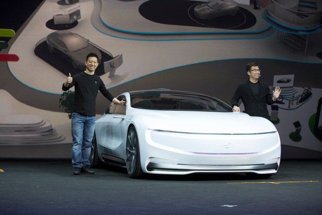 Jia Yueting, CEO & Founder, LeEco with the Super Car
