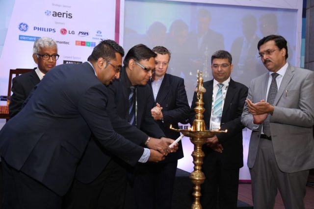 The Organizing committee of the IoT India Congress 2016 launching the Congress with Shri. JS Deepak Secretary Ministry of Telecommunications