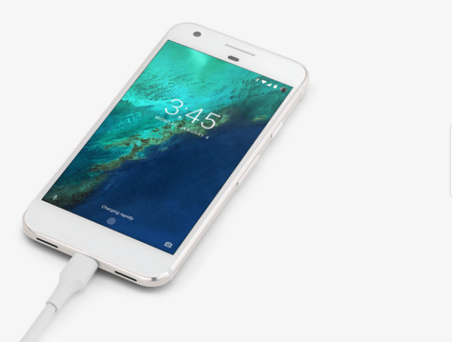 Pixel phone charging