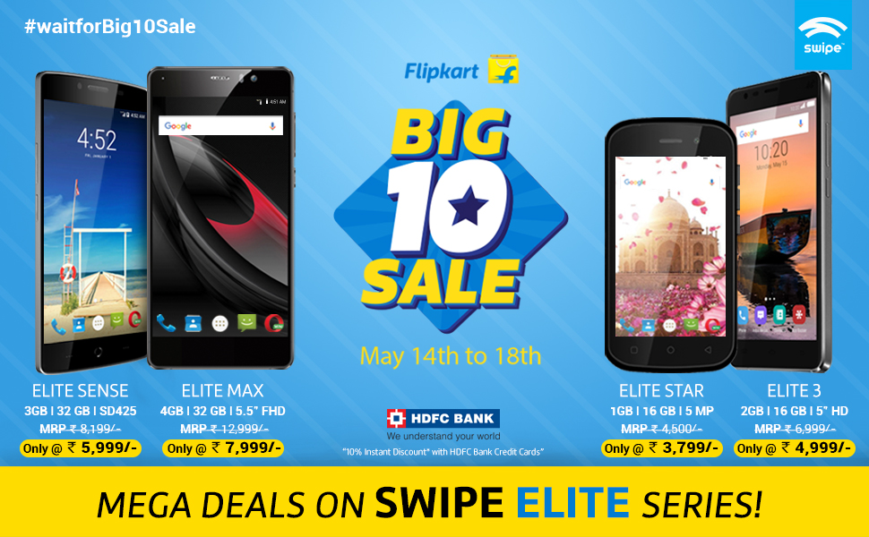 Swipe ELITE Phones Get Good Discounts At FLIPKART Big 10 Sale