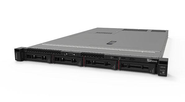 ThinkSystem SR530 facing-left front 4 HDDs