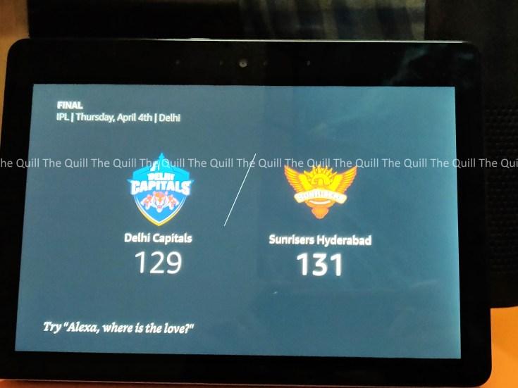 Amazon Echo Show With IPL Score