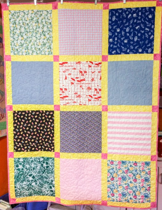 Memory quilts made from muumuus