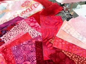 Island Batiks Fabrics in Beautiful Valentine Colors