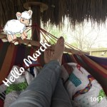 Hello March, In Like a Lamb, weather is perfect to kick back in the hammock