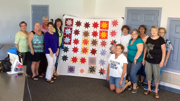 Taking classes is one benefit of belonging to a local quilting guild