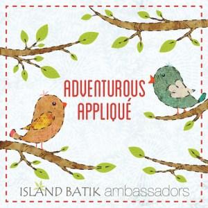 Appliqué graphic with song birds for Island Batik Ambassador program