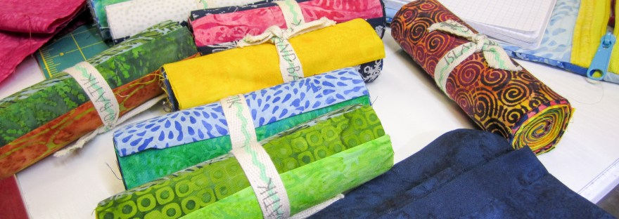 colorful Island Batik fabrics will make a beautiful modern quilt