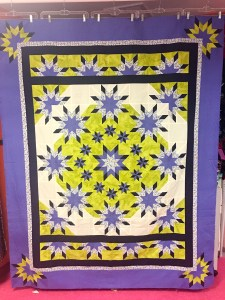 unquieted Morning Glory quilt pattern by Deb Tucker