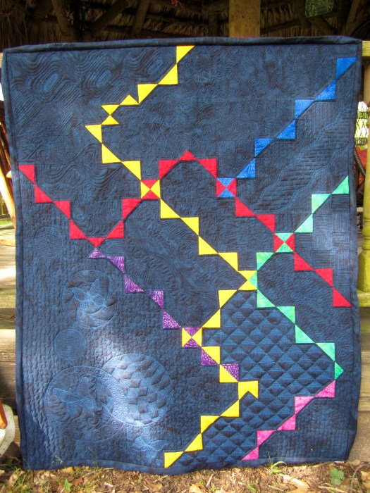"Modern Quilt by Karen Overton ""This is the way, walk in it"""