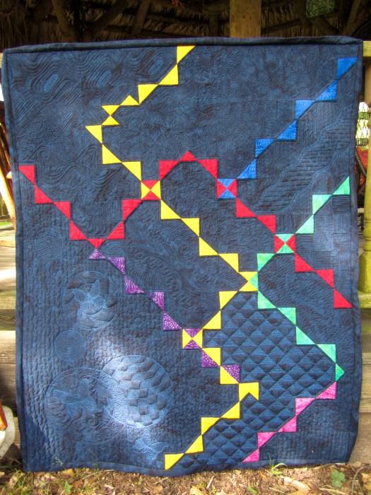 "Modern Quilt by Karen Overton ""This is the way, walk in it"""
