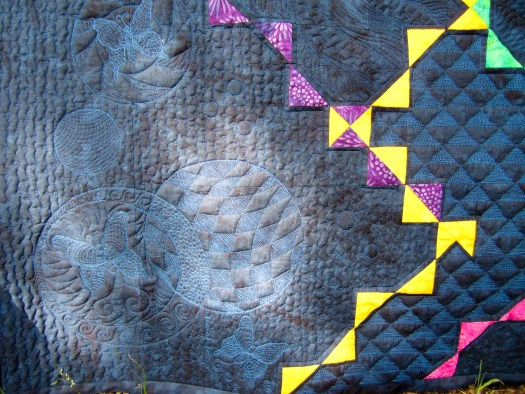 Karen's Special Butterflies are quilted in this modern quilt