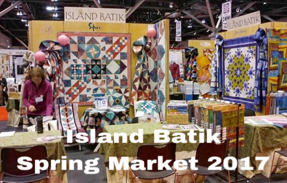 Colorful booth full of beautiful island batik fabrics taken at Spring Market 2017