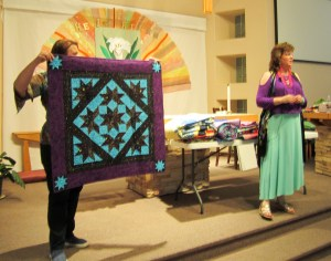 colorful wallhanging quilt