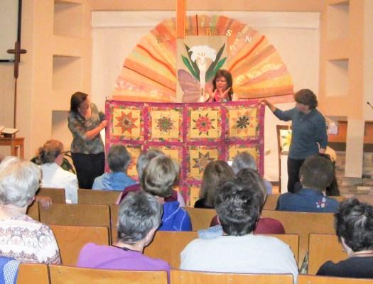 Sharing a colorful lemoyne star quilt