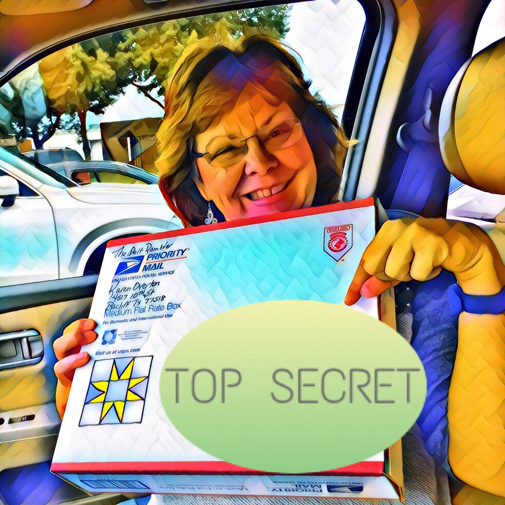 Secret sewing is mailed to a top secret location