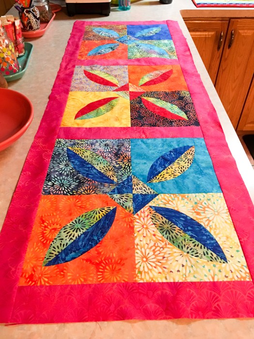 Melon Block table runner
