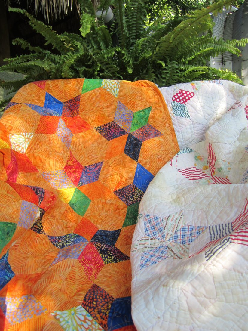 6 pointed star quilts make great baby quilts