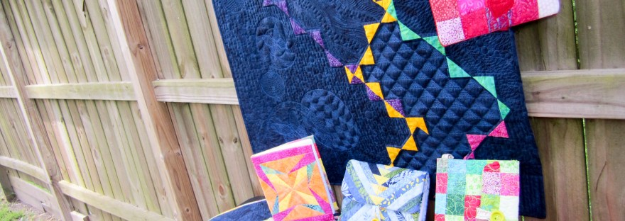 Collection of quilts made by Karen Overton, Island Batik Ambassador