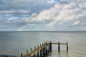 Rainbow over Galveston Bay