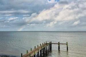 Rainbow over Galveston Bay