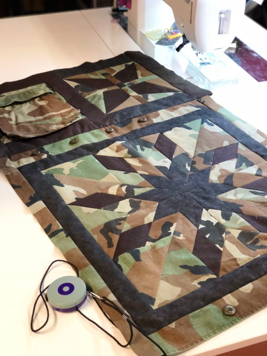 Quilt made from Military uniform