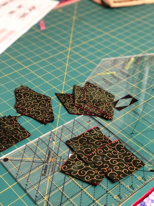 fabric cut with Diamond Rects tool