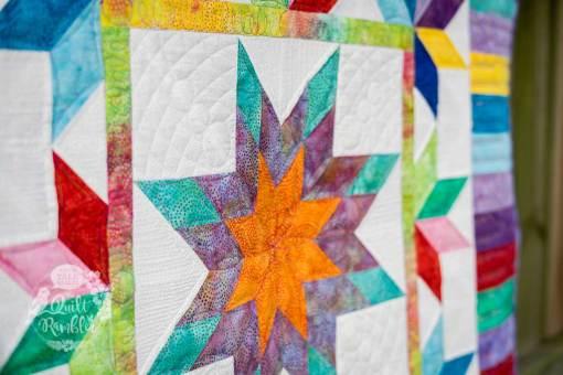 Illuminated Journey quilt pattern by Karen E Overton, The Quilt Rambler