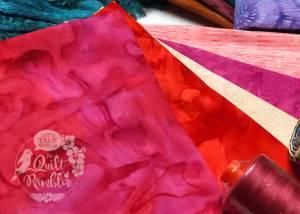 pretty in pink Island Batik fabrics