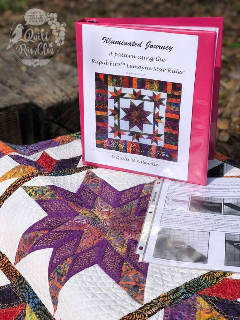 Illuminated Journey pattern has been updated and reprinted. This is the original quilt and pattern