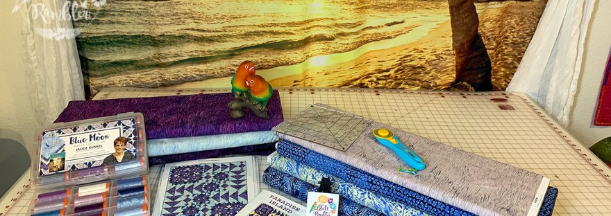 Paradise Island pattern by The Quilt Rambler plans for Blue Moon fabric line
