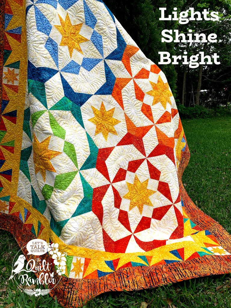 Lights Shine Bright Quilt design and pattern by The Quilt Rambler