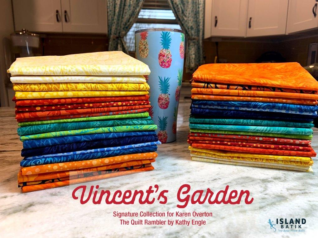 Vincent's Garden The Quilt Rambler's Signature Collection by Island Batik