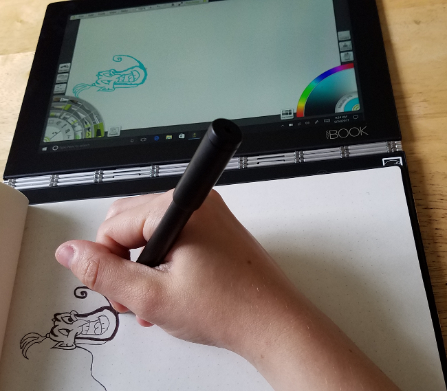 I'm Flipping for This Lenovo Yoga Book Tablet - The Quirky Mom Next Door